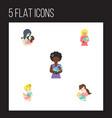 flat icon parent set of mam child newborn baby vector image