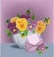 floral pot vector image
