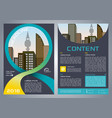 flyer corporate business with blue ribbon vector image vector image