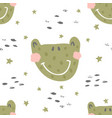 frog nursery pattern vector image