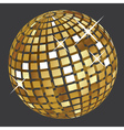 Golden disco ball2 vector image vector image