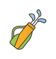 golf bag with clubs color icon vector image vector image