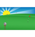 golf banner vector image vector image