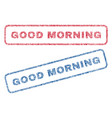 good morning textile stamps vector image vector image