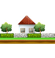 House behind the fence vector image vector image