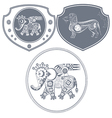 Icon mechanical elephant vector image
