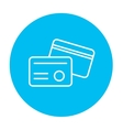 Identification card line icon vector image vector image