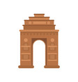 india gate in delhi famous monument of india vector image