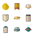 Label icons set flat style vector image