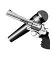 microphone and revolver vector image