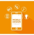 mobile design modern items media vector image vector image