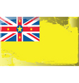Niue national flag vector image vector image