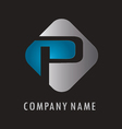 P business logo vector image vector image