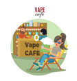 people in vape cafe template vector image vector image