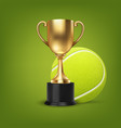 realistic 3d blank golden champion cup vector image vector image