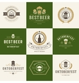 Retro style labels badges and logos set vector image