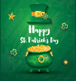 saint patricks day festive banner with pot filled vector image vector image