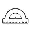 school protractor tool vector image vector image