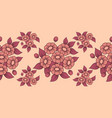 seamless coral flowers brush vector image vector image