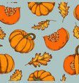 seamless pattern of autumn pattern hand vector image