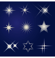 Set of bright stars vector image vector image