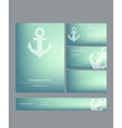 Set of business cards in marine style vector image vector image