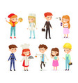 set of young kids boys vector image