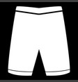 shorts the white color icon vector image