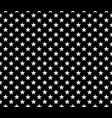 simple seamless pattern white stars on black vector image