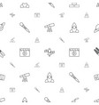 space icons pattern seamless white background vector image vector image