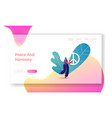 stop war pacific landing page template tiny vector image