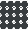 Straight black paw pattern vector image