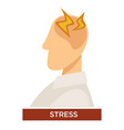 stress symptom with pain lightning signs on the vector image