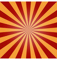 sun burst background red orange vintage vector image