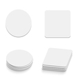 table coasters vector image
