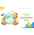 task automation landing page website vector image