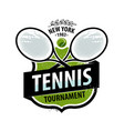 tennis logo or label sport concept vector image