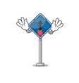 tongue out toy straight ahead above cartoon chair vector image vector image
