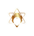 trans meditation head golden icon vector image