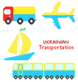 Ukrainian transportation vector image