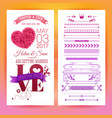 various getting married love stationery objects vector image vector image