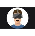 Virtual reality VR glasses man flat icons vector image vector image