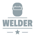 welder mask logo simple gray style vector image vector image