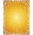 yellow grunge christmas background vector image vector image