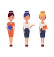 young office women in elegant clothes and vector image vector image