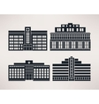 City hospital icon Set flat style vector image