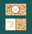 business card template for restaurant shop vector image