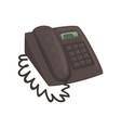 classic office phone cartoon vector image
