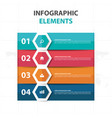 abstract colorful hexagon business infographics vector image