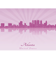 Atlanta skyline in purple radiant orchid vector image vector image